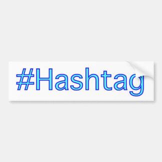 Pegatina para el parachoques de Hashtag Pegatina Para Auto