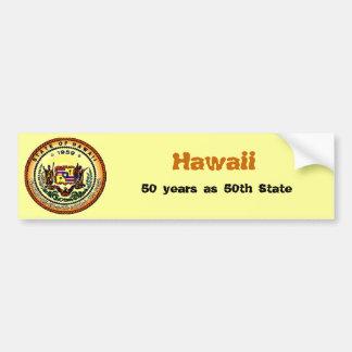 Pegatina para el parachoques de Hawaii 50.a Pegatina Para Auto