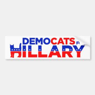 Pegatina para el parachoques de Hillary 2016 Pegatina Para Auto