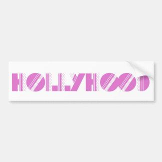 Pegatina para el parachoques de Hollyhood Etiqueta De Parachoque