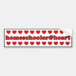 pegatina para el parachoques de homeschooler@heart pegatina de parachoque