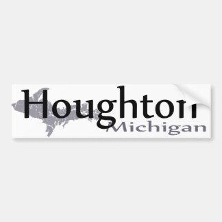 Pegatina para el parachoques de Houghton Michigan Pegatina Para Auto