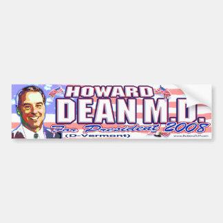 Pegatina para el parachoques de Howard Dean '08 Pegatina De Parachoque