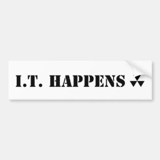 Pegatina para el parachoques de Hugh Howey I.T. Ha Pegatina Para Auto