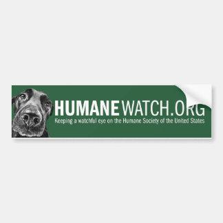 Pegatina para el parachoques de HumaneWatch Etiqueta De Parachoque