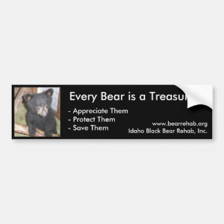 Pegatina para el parachoques de IBBR - oso Cub Pegatina Para Auto