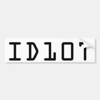 Pegatina para el parachoques de ID10T Pegatina Para Coche