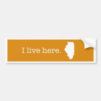 Pegatina para el parachoques de Illinois Pegatina Para Auto
