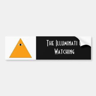 Pegatina para el parachoques de Illuminati Pegatina De Parachoque