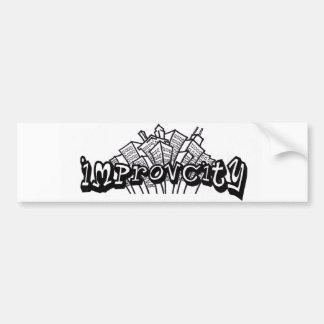 Pegatina para el parachoques de ImprovCity Pegatina Para Coche