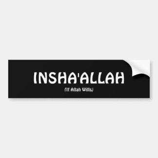Pegatina para el parachoques de INSHA'ALLAH Pegatina Para Auto
