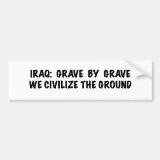 Pegatina para el parachoques de Iraq Etiqueta De Parachoque