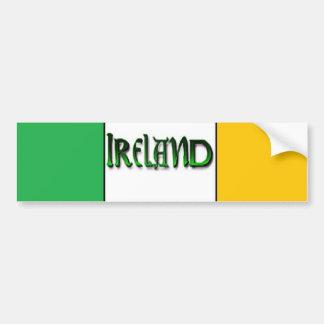 Pegatina para el parachoques de Irlanda Pegatina Para Auto