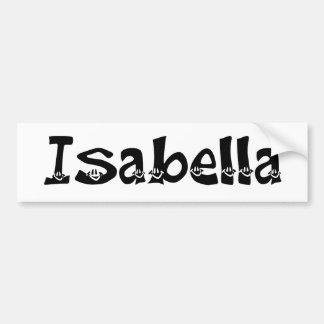 Pegatina para el parachoques de Isabel (smiley) Pegatina Para Auto