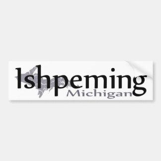 Pegatina para el parachoques de Ishpeming Michigan Pegatina Para Auto