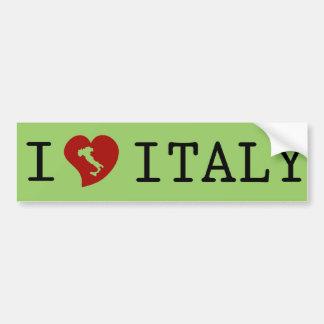 Pegatina para el parachoques de Italia del amor Pegatina Para Auto