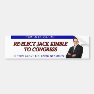 Pegatina para el parachoques de Jack Kimble - en s Etiqueta De Parachoque