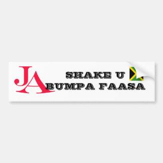 """Pegatina para el parachoques de Jamaica """"sacudida  Pegatina Para Auto"""