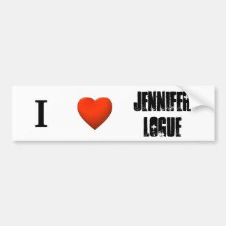 Pegatina para el parachoques de Jennifer Logue Etiqueta De Parachoque
