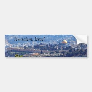 Pegatina para el parachoques de Jerusalén Israel Pegatina De Parachoque
