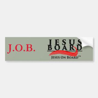 Pegatina para el parachoques de Jesús a bordo Pegatina Para Auto