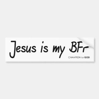Pegatina para el parachoques de Jesús BFF Pegatina Para Auto
