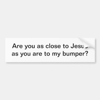 Pegatina para el parachoques de Jesús Pegatina De Parachoque