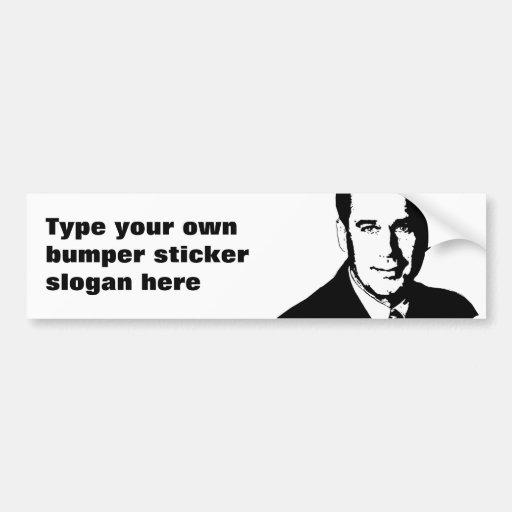 Pegatina para el parachoques de Juan Boehner Pegatina Para Auto