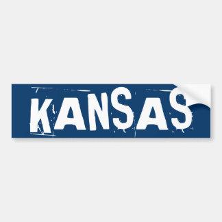 Pegatina para el parachoques de Kansas Etiqueta De Parachoque