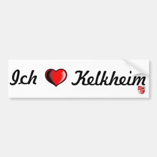 Pegatina para el parachoques de Kelkheim del amor  Etiqueta De Parachoque
