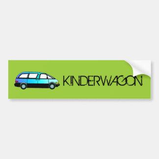 Pegatina para el parachoques de KINDERWAGON Pegatina Para Auto