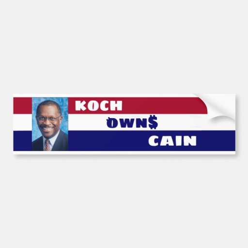Pegatina para el parachoques de Koch Own$ Caín Pegatina Para Auto