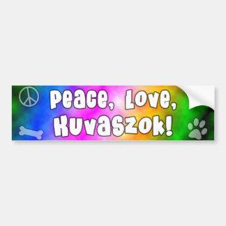 Pegatina para el parachoques de Kuvaszok del amor  Pegatina Para Auto
