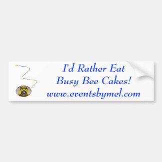 Pegatina para el parachoques de la abeja ocupada pegatina para auto