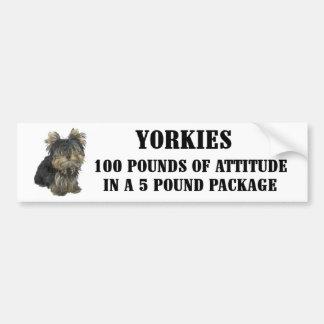 Pegatina para el parachoques de la actitud de York Pegatina Para Auto