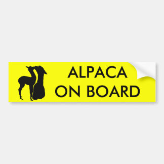 Pegatina para el parachoques de la alpaca a bordo  pegatina para auto