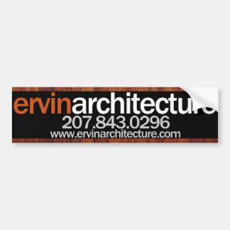 Pegatina para el parachoques de la arquitectura de pegatina para auto