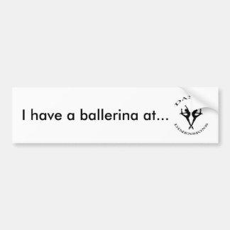 pegatina para el parachoques de la bailarina pegatina para auto