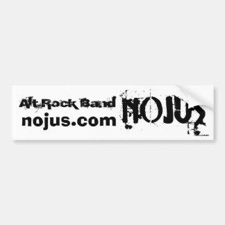 Pegatina para el parachoques de la banda NOJUS de  Pegatina De Parachoque