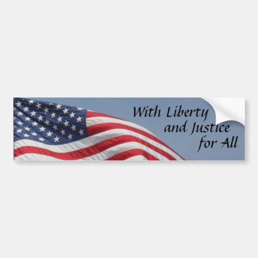 Pegatina para el parachoques de la bandera america etiqueta de parachoque