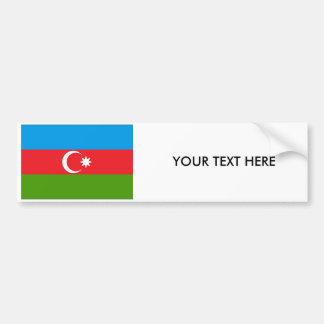 Pegatina para el parachoques de la BANDERA de Azer Etiqueta De Parachoque