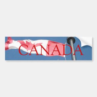 Pegatina para el parachoques de la bandera de Cana Pegatina De Parachoque