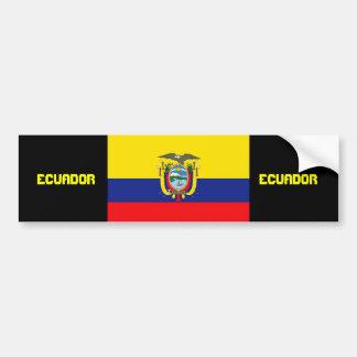 Pegatina para el parachoques de la bandera de Ecua Pegatina Para Auto