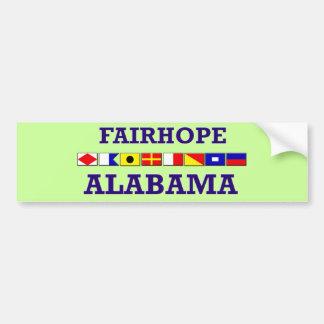 Pegatina para el parachoques de la bandera de Fair Pegatina Para Auto