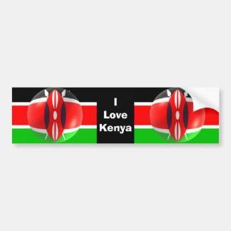 Pegatina para el parachoques de la bandera de Keni Pegatina Para Auto