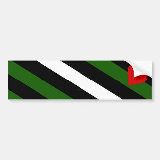 Pegatina para el parachoques de la bandera de Leat Pegatina De Parachoque
