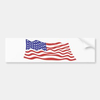 Pegatina para el parachoques de la bandera de los  etiqueta de parachoque