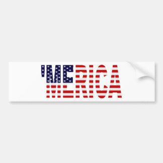 'Pegatina para el parachoques de la bandera de MER Etiqueta De Parachoque