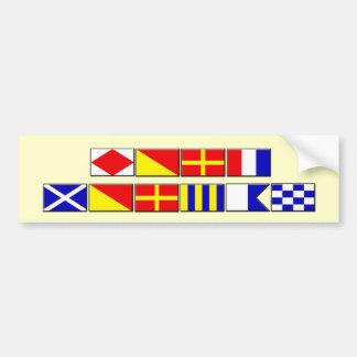 Pegatina para el parachoques de la bandera de Morg Pegatina Para Auto