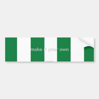 Pegatina para el parachoques de la bandera de Nige Pegatina Para Auto